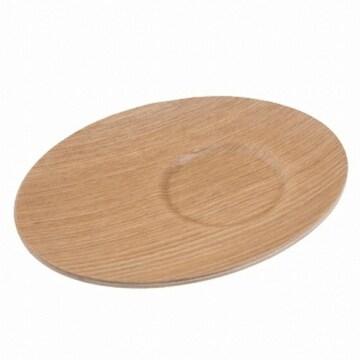 아트박스 POOM(품) 윌로우 트레이 슬림 컵받침 우드 (14.2x11.2cm)_이미지
