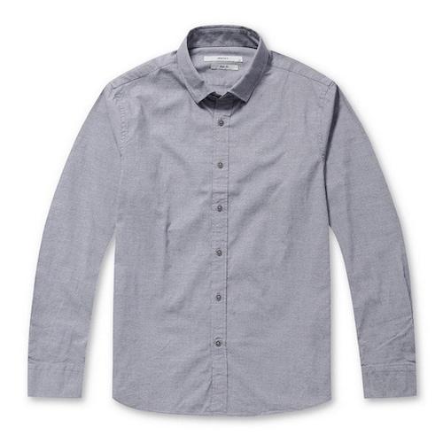 코오롱인더스트리 스파소 마이크로 패턴 코튼 셔츠 SPSDW17712GYX_이미지