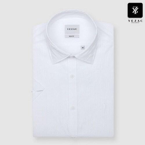 패션그룹형지 예작 화이트 니플 솔리드 슬림핏 반소매 셔츠 YJ8MBS620WH_이미지