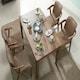 잉글랜더 아모스 고무나무 원목 식탁세트 1350 (의자4개)_이미지