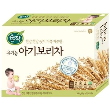 샘표식품  순작 유기농 아기보리차 1L용 20T (1개)