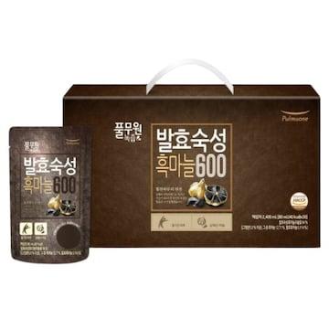 풀무원건강생활 풀무원녹즙 발효숙성 흑마늘600 80ml 30포(1개)