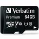 버바팀  micro SDXC CLASS10 UHS-I Premium V10 90MB/s (해외구매,64GB)_이미지