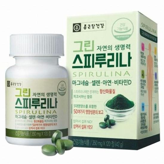 종근당건강 그린 스피루리나 120정(1개)