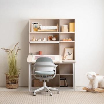 리바트 이즈마인 꼼므주니어 각도높이조절 전면 스탠딩겸용책상+그로잉 의자 세트(118x59cm)