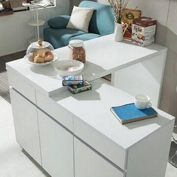 동서가구  화이트OS 아일랜드식탁 (의자별도)