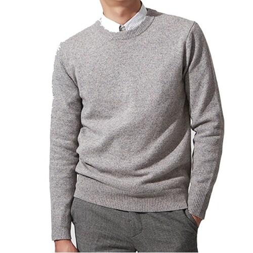 컨셉원 남성 램스울 크루넥 스웨터 10057911_이미지