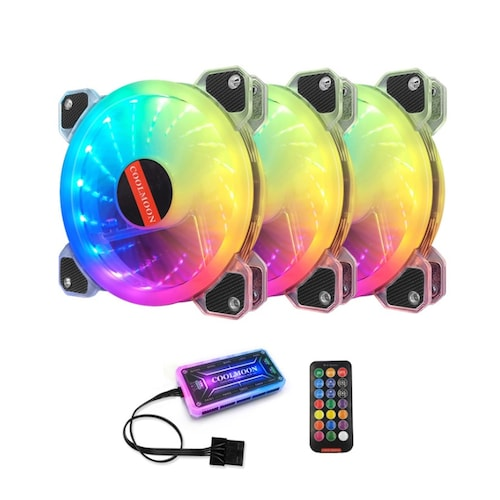 COOLMOON YUPO RAINBOW RGB (3PACK/Controller)