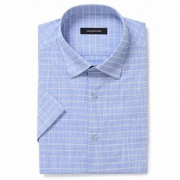 루이까또즈 반소매 슬라브 원단 스냅버튼 일반핏 셔츠