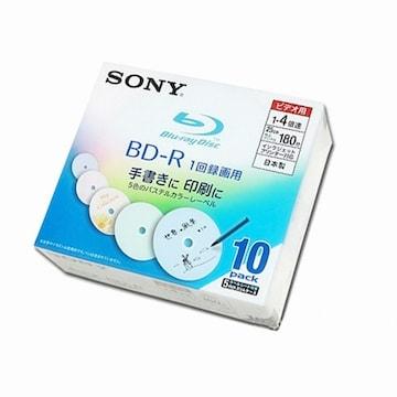 SONY BD-R 25GB 4x 와이드 프린터블 슬림 (10장)_이미지
