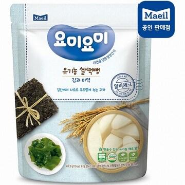 매일유업 맘마밀 요미요미 유기농 쌀떡뻥 김과 미역 30g (1개)