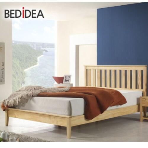 화이니스 침대생각 뉴질랜드 모건 원목 침대 슈퍼싱글 (SS) (하일코일백스프링)_이미지