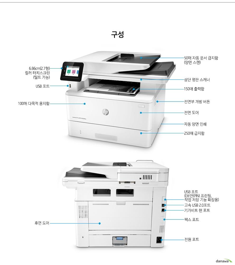 HP 레이저젯 프로 MFP M428fdn (기본토너)