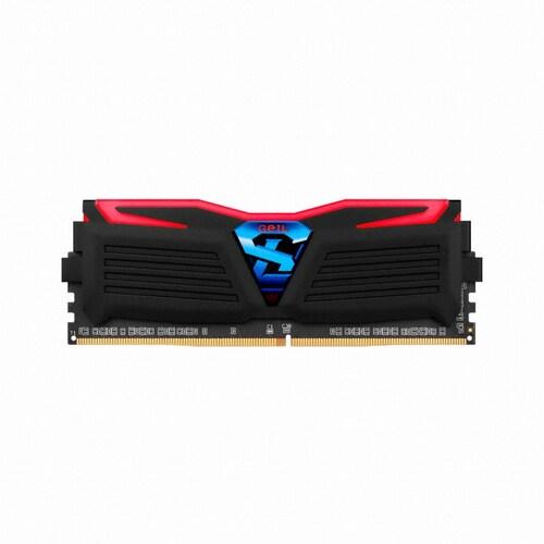 GeIL DDR4 32G PC4-19200 CL14 SUPER LUCE BLACK 레드 (16Gx2)_이미지
