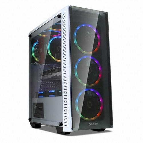 ORBIS G320 Auto RGB LED 듀얼링 강화유리 (화이트)_이미지