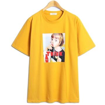 탑보이 인형같은아이 프린팅 반팔 티셔츠