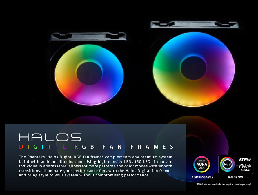 Phanteks  HALOS DIGITAL RGB FAN FRAMES 120MM