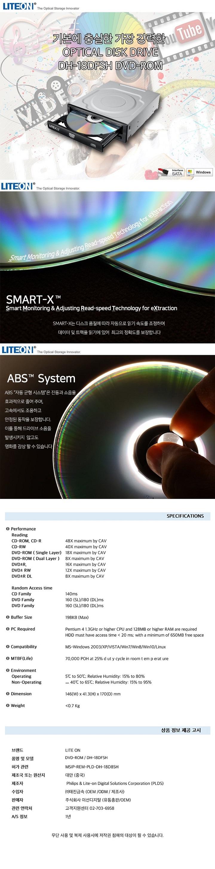 Lite-On DVD-ROM DH-18DFSH