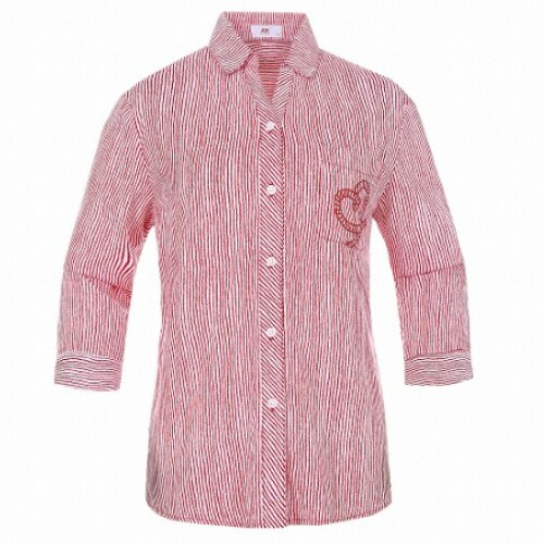 JDX골프  여성 세로스트라이프 프린트 셔츠 X2QMWSW53RE_이미지