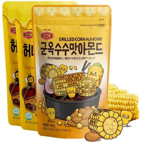머거본 군옥수수맛 아몬드 190g + 허니버터믹스넛 160g x 2개 (1개)_이미지