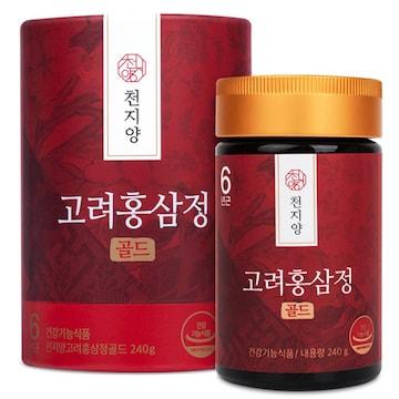 천지양 6년근 고려 홍삼정 골드 240g(1개)