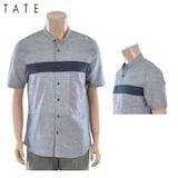 인디에프 테이트 남성 배색 차이나카라 반팔 셔츠 KA7U5-MRC180_이미지