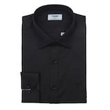 레노마  블랙 솔리드 슬림 셔츠 RISSL1-110-BK_이미지