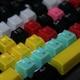 웨이코스 씽크웨이 CROAD X6 104키 크리스탈 이중사출 컬러키캡 (제이드)_이미지