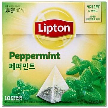 유니레버 립톤 허브티 페퍼민트 10T (1개)