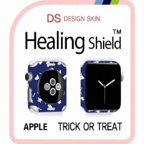 폰트리 힐링쉴드 애플 워치2 38mm 디자인스킨 외부보호필름  TRICK OR TREAT-DW046 (2매)_이미지