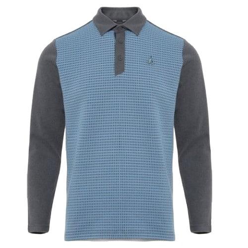 빈폴골프 투톤 패턴 기모 칼라 티셔츠 BJ9941B164_이미지