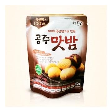 백제씨푸드 100% 국산밤으로 만든 공주맛밤 50g (10개)
