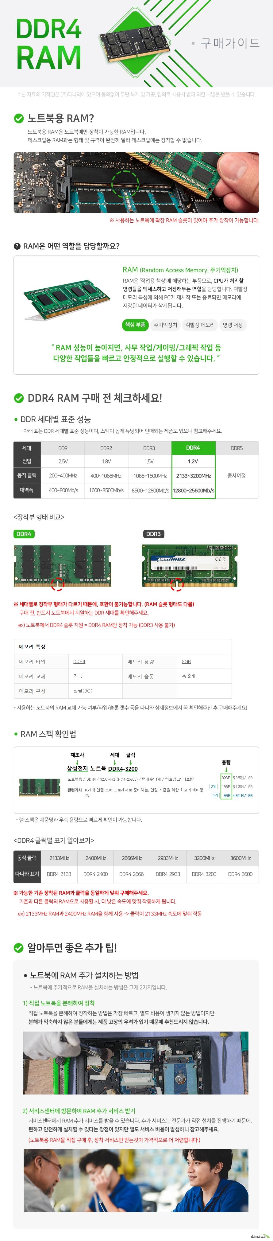 타무즈 노트북 DDR4-3200 CL22 (8GB)