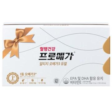 종근당건강 혈행건강 프로메가 알티지 오메가3 듀얼 60캡슐 3개입 세트