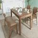 잉글랜더 아모스 고무나무 원목 식탁세트 1350 (의자2개+벤치1개)_이미지
