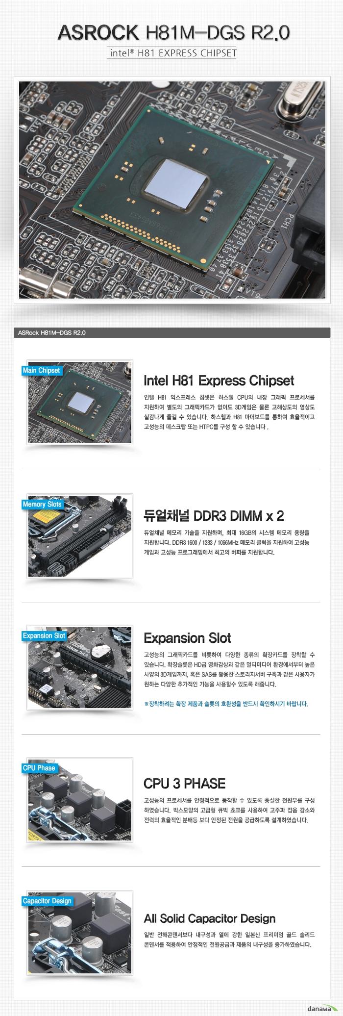 ASROCK H81M-DGS R2.0 온보드 각 부 명칭 및 설명