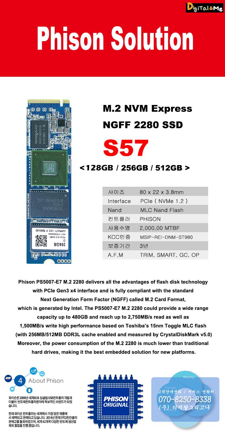 파이슨 S57 M.2 NVMe 벌크 (512GB)