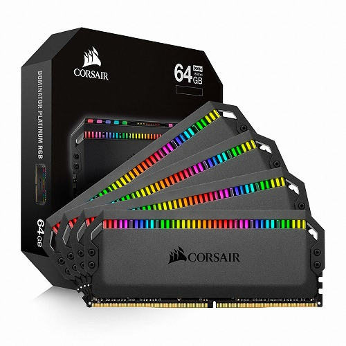 CORSAIR  DDR4 64G PC4-25600 CL16 Dominator Platinum RGB (16Gx4)
