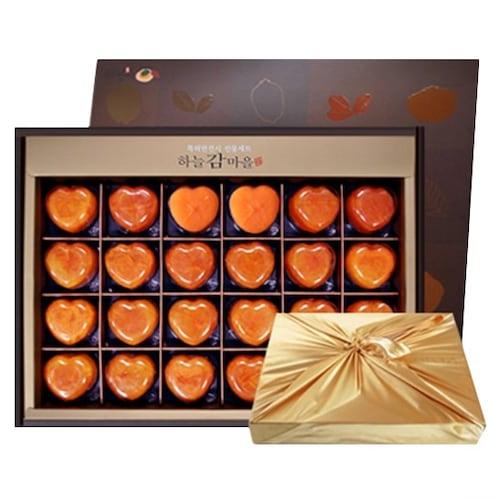 팜앤푸드 하트반건시 곶감 선물세트 24개(과) 1.68kg (5개)_이미지