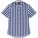 타미힐피거  남성 베이직 뉴욕핏 볼드 스트라이프 반소매 셔츠 TMMR2HCE83R0B57_이미지