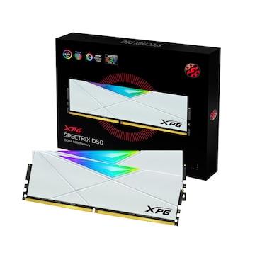 ADATA XPG DDR4-3200 CL16 SPECTRIX D50 RGB 화이트 패키지 (16GB(8Gx2))_이미지