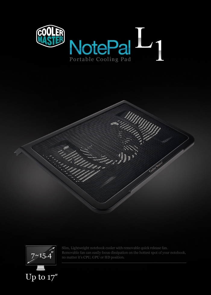COOLERMASTER NotePal L1 Portable Cooling Pad