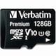 버바팀  micro SDXC CLASS10 UHS-I Premium V10 90MB/s (해외구매,128GB)_이미지