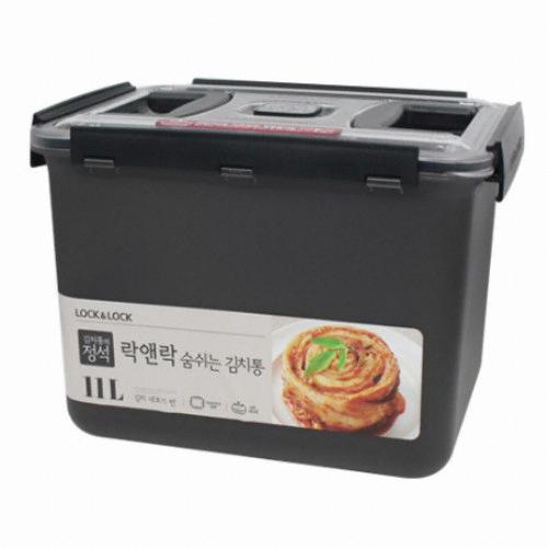 락앤락 숨쉬는 김치통 그레이 11L (HPL888BG)(1개)