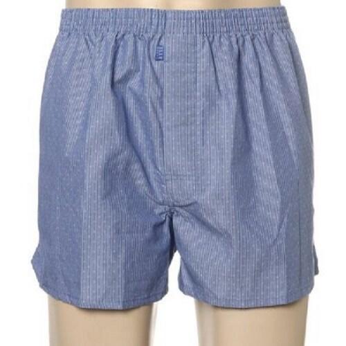 엘르 엘르이너웨어 블루 세로 줄 무늬 남성 트렁크 EHX7659_이미지