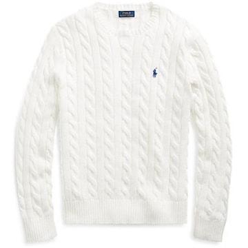 폴로 케이블니트 코튼 스웨터 MNPOSWE16820220100_이미지