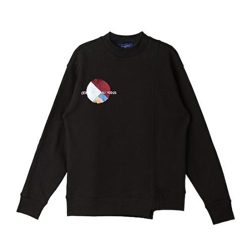 코오롱인더스트리 커스텀멜로우 half neck one point sweatshirts CQTAX16755BKX_이미지