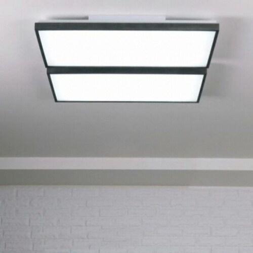 대림라이팅 LED 블랙 우드 직사각 거실등 100W_이미지
