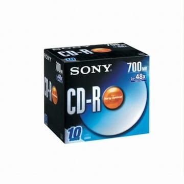SONY CD-R 700MB 48x 쥬얼 (10장)_이미지