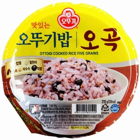오뚜기 맛있는 오뚜기밥 오곡 210g(1개)
